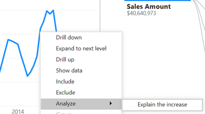 analyze insights power bi