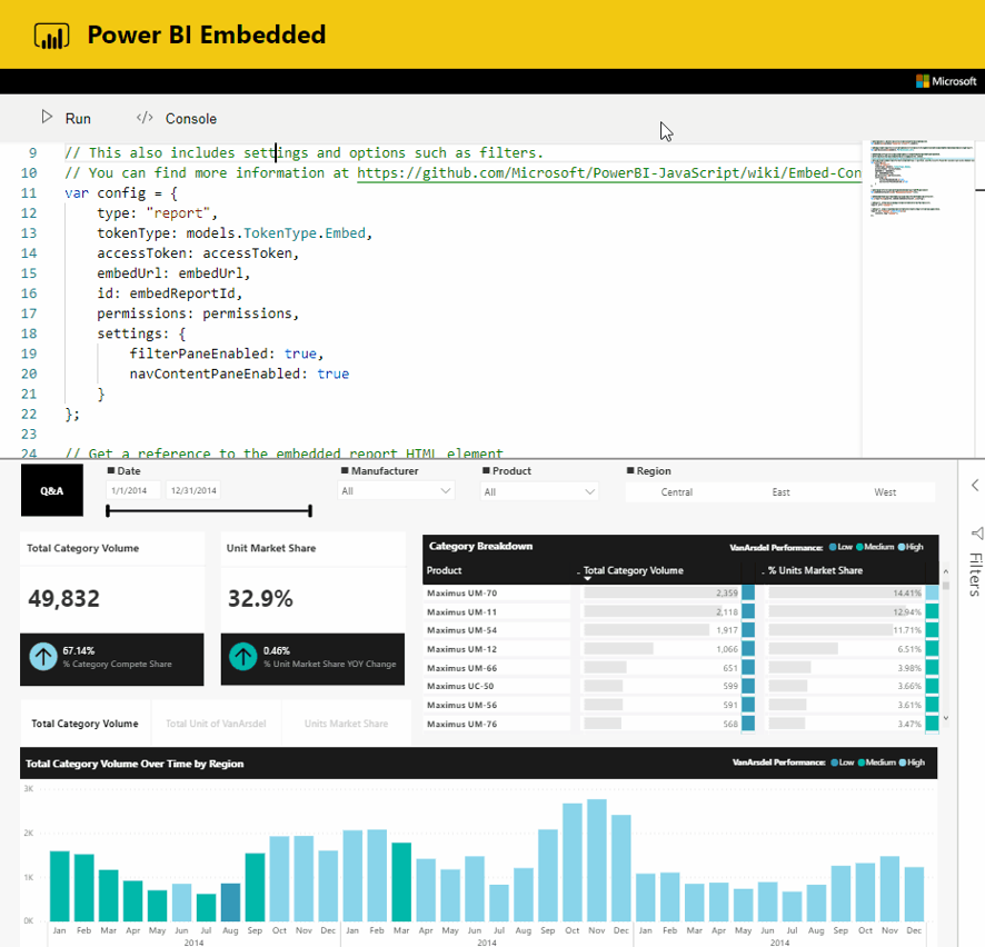power bi enbedded
