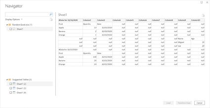 deteccion automatica de tablas power bi