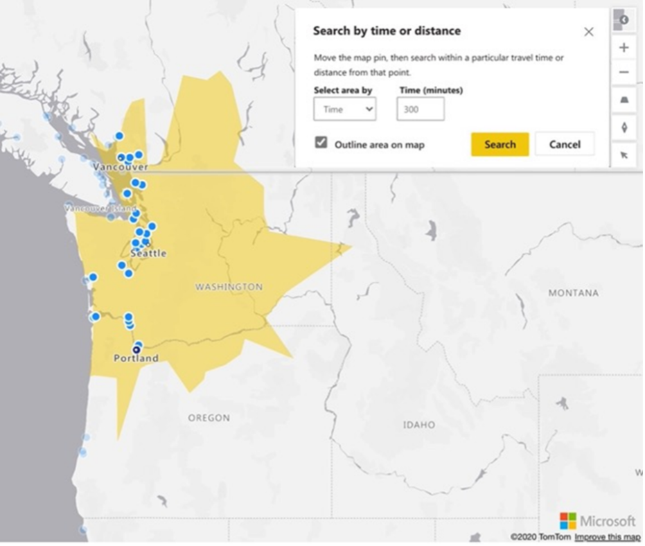 mejor area de mapas power bi